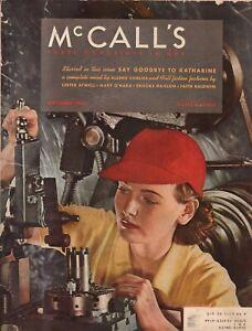 1942 McCalls September - Bath ME women on the home front; Faith Baldwin;