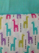 Pastels Mini Giraffes High Chair Pads Child's Rocking Chair Cushions NWT