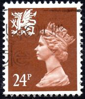 1992 Wales Sg W59b 24d chestnut (Perf 14) Fine Used
