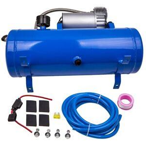 12V 100 PSI AIR COMPRESSOR / 6L TANK FOR HIGH-PRESSURE AIR HORN TRAIN TRUCK