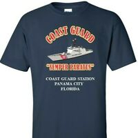 COAST GUARD STATION PANAMA CITY-FLORIDA*COAST GUARD VINYL PRINT SHIRT/SWEAT