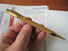 Caran D'Ache Varius Ivanhoe gold plated 0.7mm mechanical pencil