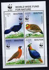Bhutan- Birds.WWF  - S/S  MNH** G104