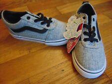 nwt boys vans ward slip on shoes size 10 gray/white
