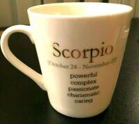 World Market Scorpio Coffee Mug White Zodiac Astrology Coffee Cup