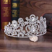 Beauty Baroque Big Queen Pageant Princess Crown Crystal Rhinestone Tiara Wedding
