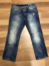 JACK & JONES Vintage Rick Original Distressed Button Fly Denim Jeans  34 X 28