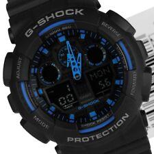 Orologio Casio da uomo G Shock GA-100 nero blu digitale cronografo led allarme