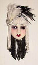 NEW IN BOX - Unique Creations Small Art Decor Lady Face Mask Wall Hanging