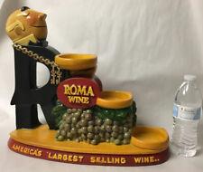 VTG ROMA WINE CHALKWARE ADVERTISING STATUE DISPLAY WAITER 3 TIER BOTTLE HOLDER