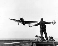 """USS Card guides a Grumman TBF-1 Avenger 8""""x 10"""" World War II WW2 Photo 619"""