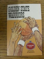 1974/1975 Fixture Card: Basketball - Golden State Warriors (fold out style). Any