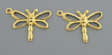NEW 14K YELLOW GOLD GIRLS LADIES EARRING JACKETS CHARMS DANGLE DRAGONFLY