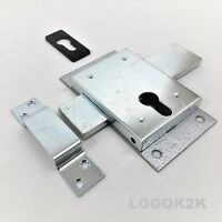 Euro Profile Deadcase Gate Shed Van Garage Lock  Double Throw  Zinc Plated KK160