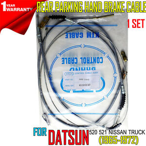 FOR DATSUN 520 521 NISSAN PICKUP 1965-72 FRONT REAR PARKING HAND BRAKE CABLE SET