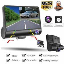 Car DVR Dash Cam 3 Camera Lens Video Recorder 1080P Full HD 4'' Camcorder 2019