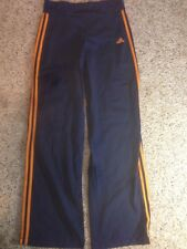 Womens' Blue ADIDAS Long Athletic Pants for Running, Biking, Gym, Yoga   LG. Ked