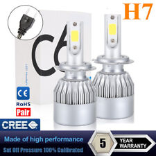 Pair H7 LED Headlight 1200W 168000LM COB Bulbs Kit High Beams 6000K White CREE