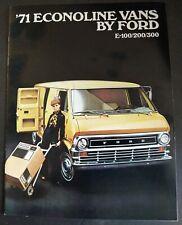 '71 ECONOLINE VANS by FORD Original 1971 Dealer Sales Brochure E-100/200/300 Ex