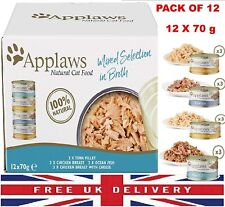 More details for applaws natural wet cat food multipack fish chicken mixed selection 12x70g