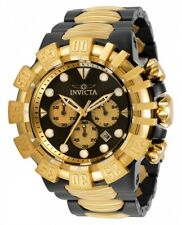 Invicta Men 52mm Excursion Two Tone Black Gold Chronograph Stainless Steel Watch