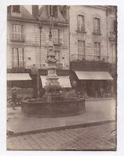 PHOTO ANCIENNE Tours Ville Fontaine Renaissance France Vers 1900