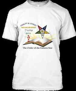 Masonic Order Of Eastern Star Prince Hall Affiliated Bible Design T Shirt XL
