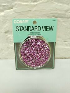 Conair Compact Mirror Standard View Sparkle New in Pack Purple