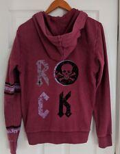 NWT Butter Super Soft Boy's Rock Hoodie Jacket Cordovan Skull Lightning XL