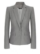 Veste de costume tailleur femme grise smoking blazer taille M 38 NIFE Z21