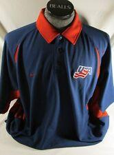 Team USA Nike Dri-Fit hockey polo golf shirt men's XL blue Olympics World Cup