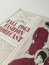 Vintage Fall 1963 Fashion Forecast Pamphlet from the - Singer Sewing Company