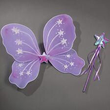 Lilac Star Wings & Wand Set - Princess Fairy Fancy Dress