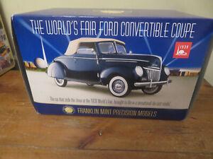 Franklin Mint Worlds Fair 1939 Ford Convertible 1/24