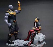 1/24 Resin Figure Model Kit The Avengers Thanos 82mm vs Iron Man Unpainted