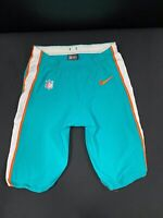 #47 MIAMI DOLPHINS NIKE GAME USED AQUA CURRENT STYLE PANTS 2019/2020 SEASON