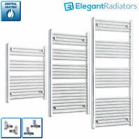 700 mm Wide Chrome Ladder Heated Towel Rail Radiator Designer Straight / Curved