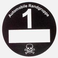 3 St. Umweltplakette Feinstaubplak. Automobile Randgruppe, schwarz (Wieder da!)