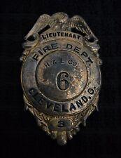 New listing Cleveland Ohio Oh Fireman Hose Fire Badge Cairns Olson Reese Wilson Braxmar