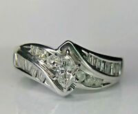 1.50 ct Marquise Cut Diamond VVS1 Wedding Engagement Ring 14k White Gold Finish