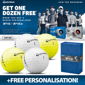 TaylorMade 4 FOR 3 TP5/TP5x Golf Balls (48 Balls) +FREE PERSONALISATION!