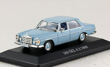 Mercedes 300 SEL 6,3 blau 1969 1:43 Atlas Modellauto