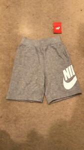 Nike Sportswear Fleece Gray Shorts Casual 86a727-042-n1  Boys Child Youth Kids 6