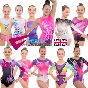 Deluxe Girls Sleeveless & Long Sleeve Gymnastics Leotards UK Short & Sleeved