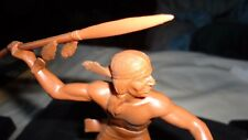 VINTAGE MARX CO.TOY SOLDIER AMERICAN INDIAN SPEAR THROWER EXCELLENT CONDITION.
