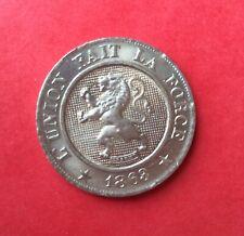 Belgique - Léopold Ier  - Magnifique monnaie de 10 Centimes 1863