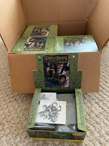 Lord of the Rings Masterpieces II 8 Box Case Trading cards open boxes no chase