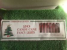 New Set Of 20 Christmas Candy Canes with Red Bows Novelty Lights