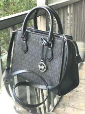 Michael Kors Women Medium Messenger Crossbody Handbag Bag Satchel Purse Black MK