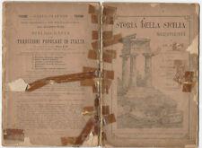 Storia Della Sicilia Nell' Antichita 1895 Di AD.Holm fasc.6°pp80+piant.originale